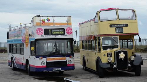 Old & New beach buses